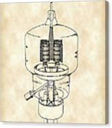 Vacuum Tube Patent 1942 - Vintage Canvas Print