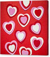 Valentines Day Hearts Canvas Print