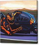 Valentino Rossi On Ducati Canvas Print