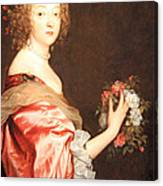 Van Dyck's Catherine Howard -- Lady D'aubigny Canvas Print