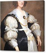 Van Dyck's Lady With A Fan Canvas Print