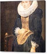 Van Dyck's Portrait Of A Flemish Lady Canvas Print