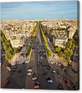 View Over Champs Elysees Canvas Print