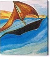 Viking Sailboat Canvas Print