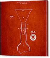 Vintage Bottle Neck Patent From 1891 Canvas Print