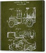 Vintage Military Vehicle Patent From 1942 Canvas Print