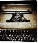 Vintage Olympia Typewriter Canvas Print