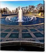 Washington D.c. - Fountains And World Canvas Print