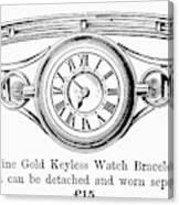 Watch Bracelet, 1891 Canvas Print