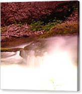 Water Over Rock  Canvas Print