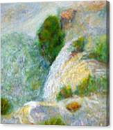 Waterfall In The Mist Canvas Print