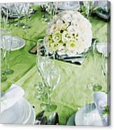 Wedding Table Canvas Print