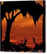 Wetland Wildlife - Sunset Sky Canvas Print