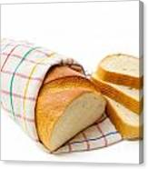 White Bread With Slices Canvas Print