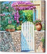 White Gate Canvas Print