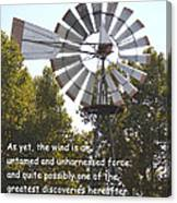 Windmill With Lincoln Quote Canvas Print