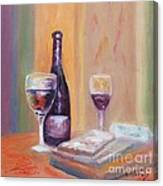 Wine And Blue Cheese Canvas Print