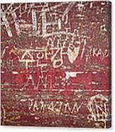 Wood Graffiti Canvas Print
