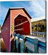 Wooden Covered Bridge  Canvas Print