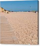 Wooden Walkway On Beach Canvas Print