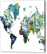 World Atlas  Canvas Print