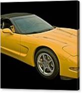Yellow Corvette 2 Canvas Print