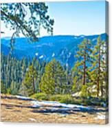 Yosemite Valley Mountainside From Sentinel Dome Trail In Yosemite Np-ca Canvas Print