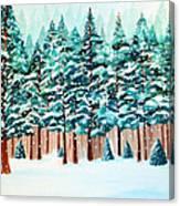 Yosemite Winter Canvas Print
