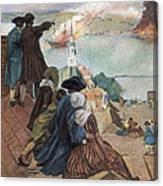 Battle Of Bunker Hill, 1775 Canvas Print