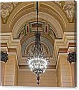 Interior Of St Georges Hall Liverpool Uk Canvas Print