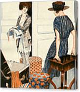 La Vie Parisienne 1919 1910s France Canvas Print