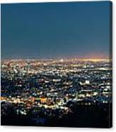 Los Angeles At Night Canvas Print