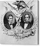Presidential Campaign, 1860 Canvas Print