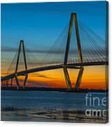 Arthur Ravenel Jr. Bridge At Sunset Canvas Print