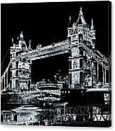 Tower Bridge Art Canvas Print