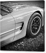 2002 Chevrolet Corvette Z06 Bw Canvas Print