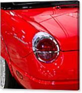 2002 Red Ford Thunderbird-rear Left Canvas Print