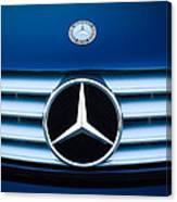 2003 Cl Mercedes Hood Ornament And Emblem Canvas Print