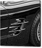 2002 Corvette Ls1 5 7ltr B W Canvas Print