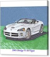 2005 Dodge V-10 Viper Canvas Print