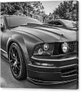 2005 Ford Mustang Convertible Bw  Canvas Print