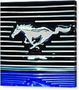 2007 Ford Mustang Grille Emblem Canvas Print