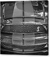 2007 Ford Shelby Gt 500 Mustang Bw Canvas Print