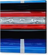 2011 Dodge Challenger Rt Hemi Taillight Emblem Canvas Print