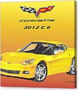 2012 C 6 Corvette Canvas Print