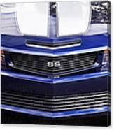 2012 Camaro Blue And White Ss Camaro Canvas Print