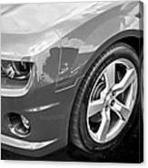 2012 Chevy Camaro Ss Bw Canvas Print