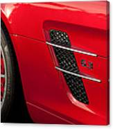 2012 Mercedes-benz Sls Gullwing Wheel Canvas Print