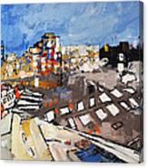 2013 015 Crosswalk Silver Orange And Blue Arlington Virginia Canvas Print