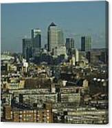 2013 Docklands London Skyline Canvas Print